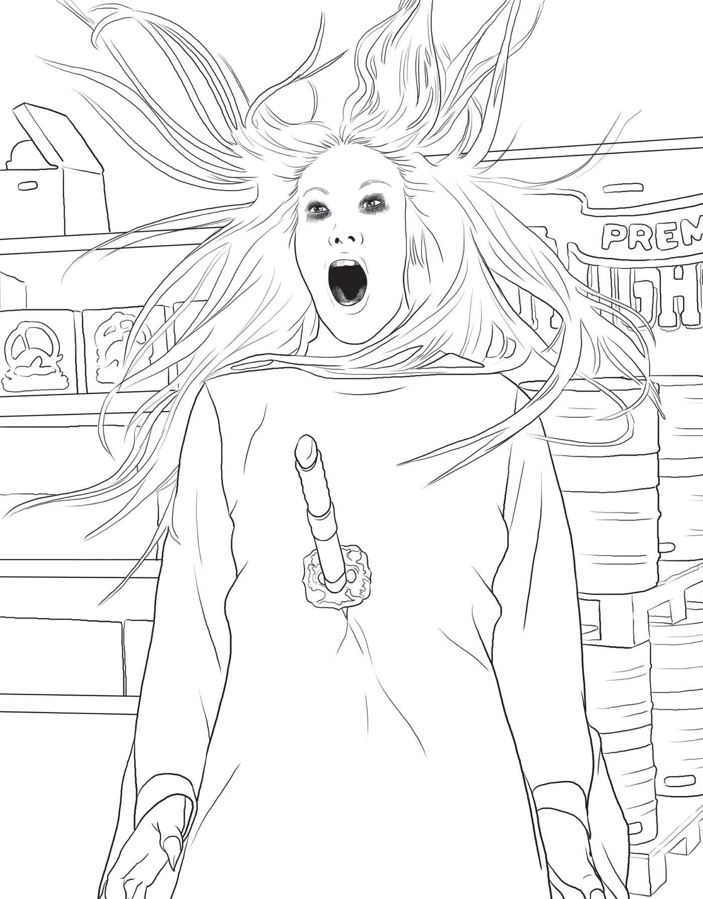 The Official Supernatural Coloring Book: Monsters, Demons