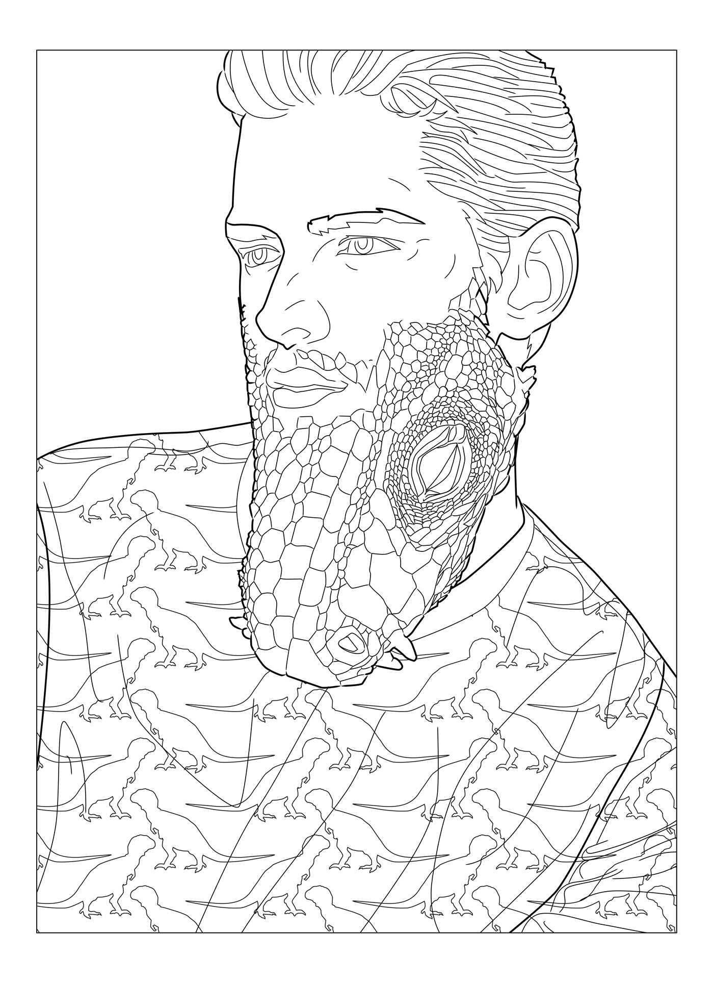 beard coloring all about beards beards rock coloring book