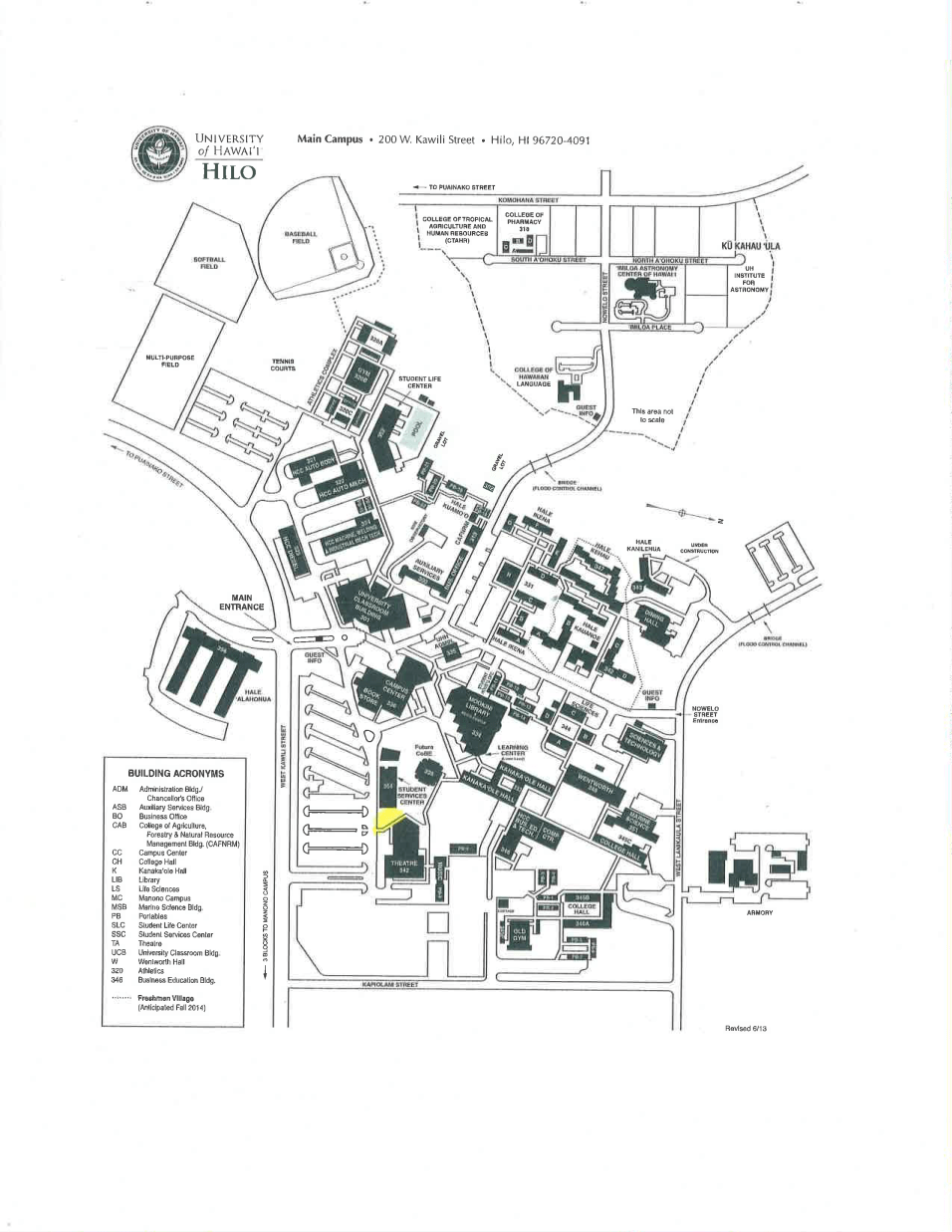 University-of-hawaii-at-hilo-Free-speech-zone-map