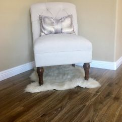 Bonnie Cream Slipper Chair Black Covers For Hire Upholstered Tufted Linen Beige Threshold