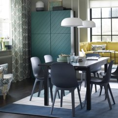 There A Table And Four Chairs In My Living Room Wood Stove Dining Furniture Ikea Curated Image With Odger Chair Bjursta Extendable Strandmon Wing Nyboda Coffee
