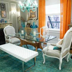 Aqua Dining Room Chair Covers Bedroom Houzz Mindy's Shoppable House Tour: The Chicest Apartment On Tv | Therapy