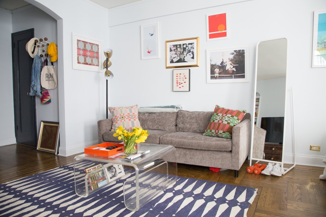 House Tour A Colorful 450 Square Foot NYC Studio