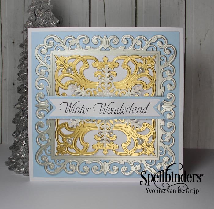 Winter Wonderland Fleur De Square Card Tutorial Spellbinders