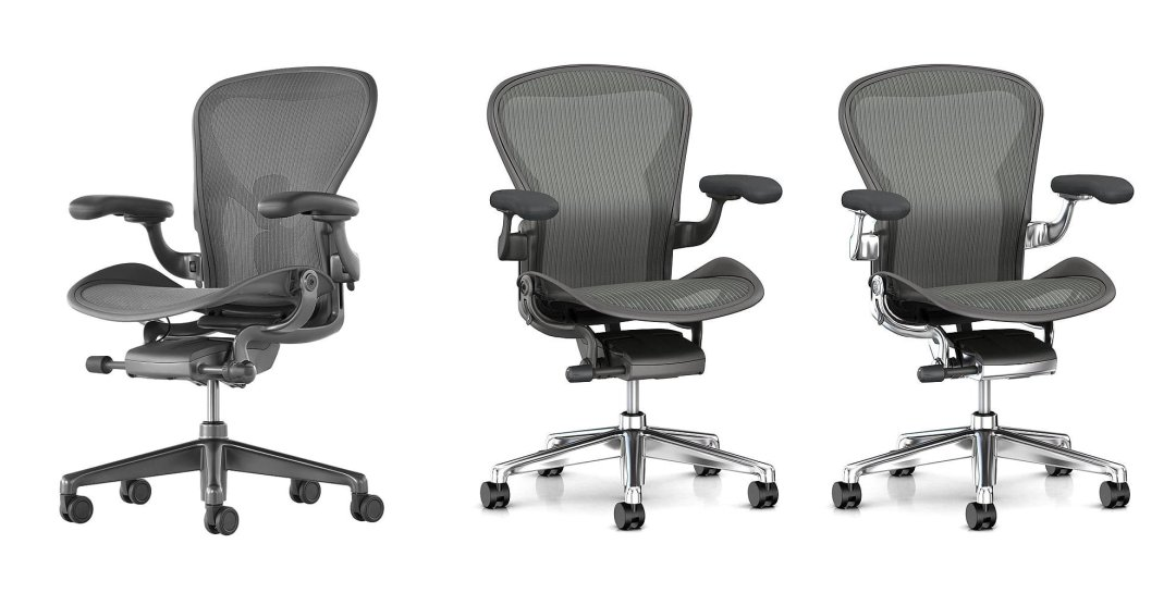 herman miller chair sizes accent with long back aeron buying guide tips advice at lumens com curated image office size a carbon by