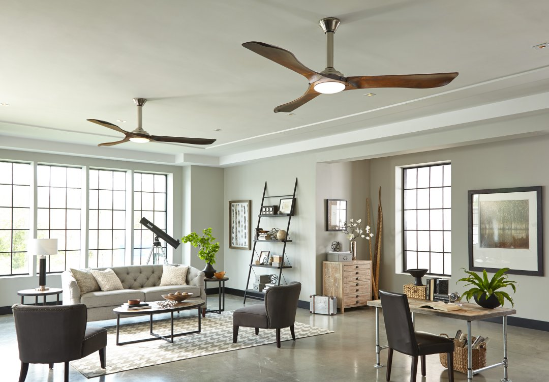 ceiling fan size for living room ikea designs how to choose a guide blades airflow curated image with minimalist max by monte carlo fans
