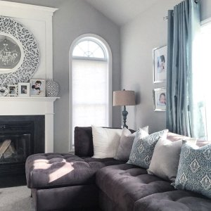 montreal sectional sofa in slate bonbon bunk bed cindy crawford home metropolis 2 pc microfiber spending this beautiful sunday cozied up on the couch watching a movie with my littles