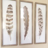 "12""X36"" Framed 3-Pack Feathers - Threshold : Target"