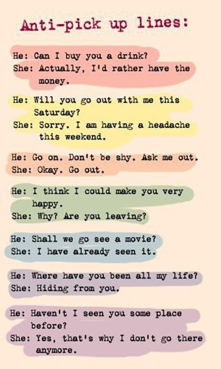 Clever Pick Up Line Comebacks  Funny  Faxo
