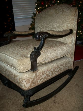 Early 1900's FRENCH ROCKING CHAIR * ANTIQUE * 100 Years