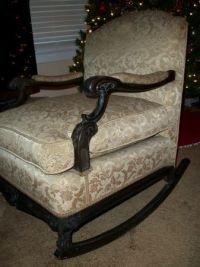 Early 1900's FRENCH ROCKING CHAIR * ANTIQUE * 100 Years ...