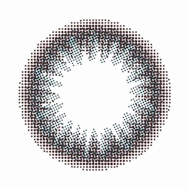 ラスターワンデー オリエントブラック レンズ画像