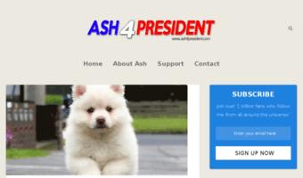 ash4president com observe ash