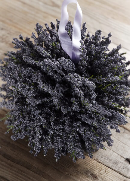Large 7 Lavender Pomander Silk Flower Ball