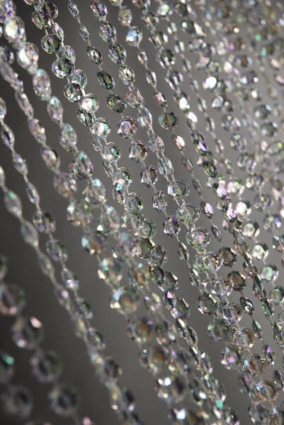 Crystal Iridescent Curtain 36 X 72