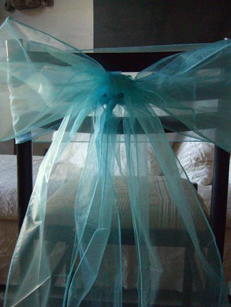 chair sashes for wedding round couch 10 aqua blue organza 8