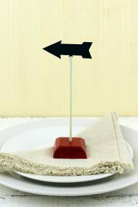 6 Vintage Arrow Chalkboard Stands with Clips, Table Number ...