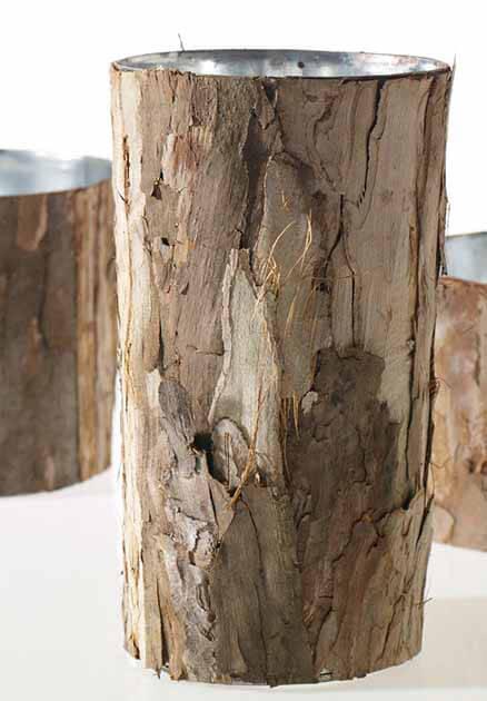 artificial plants for living room sideboards bark covered zinc vase 10in