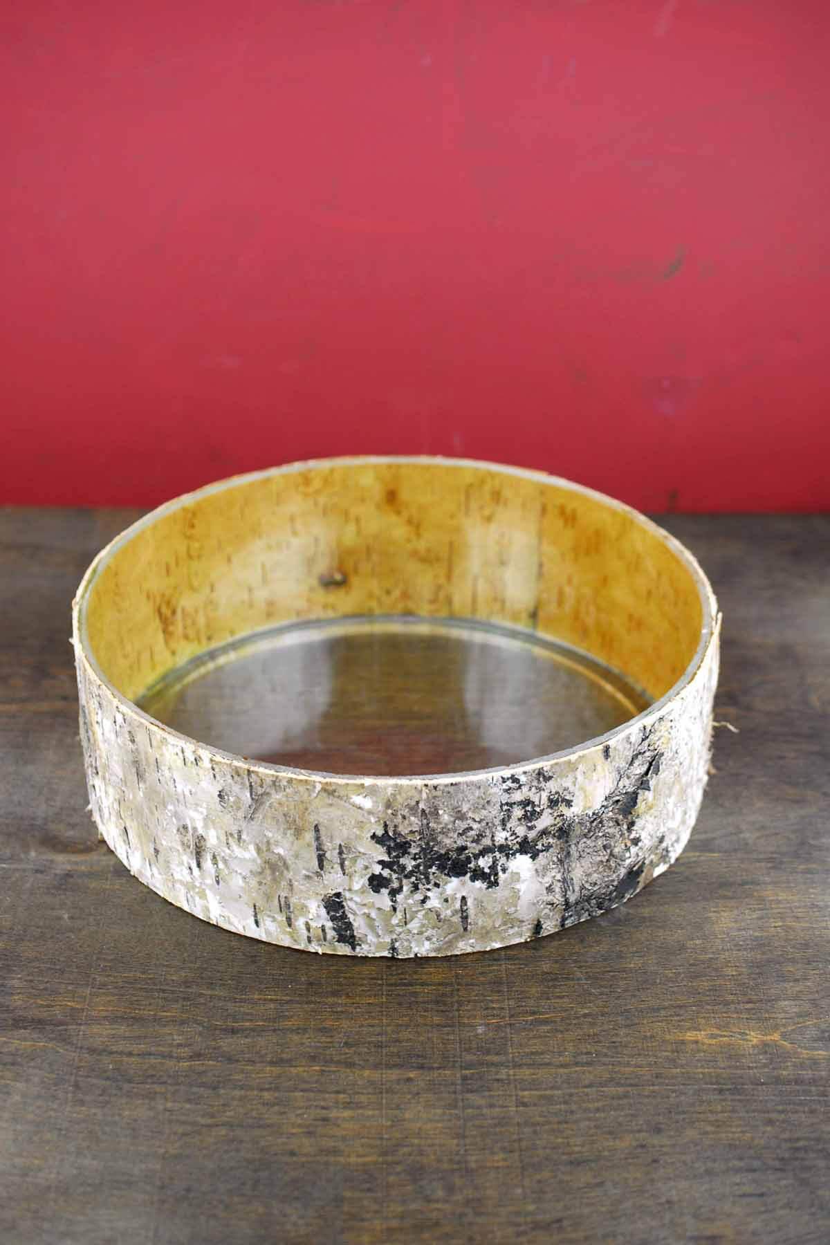Birch Bark Wrapped Glass 10 Bowl