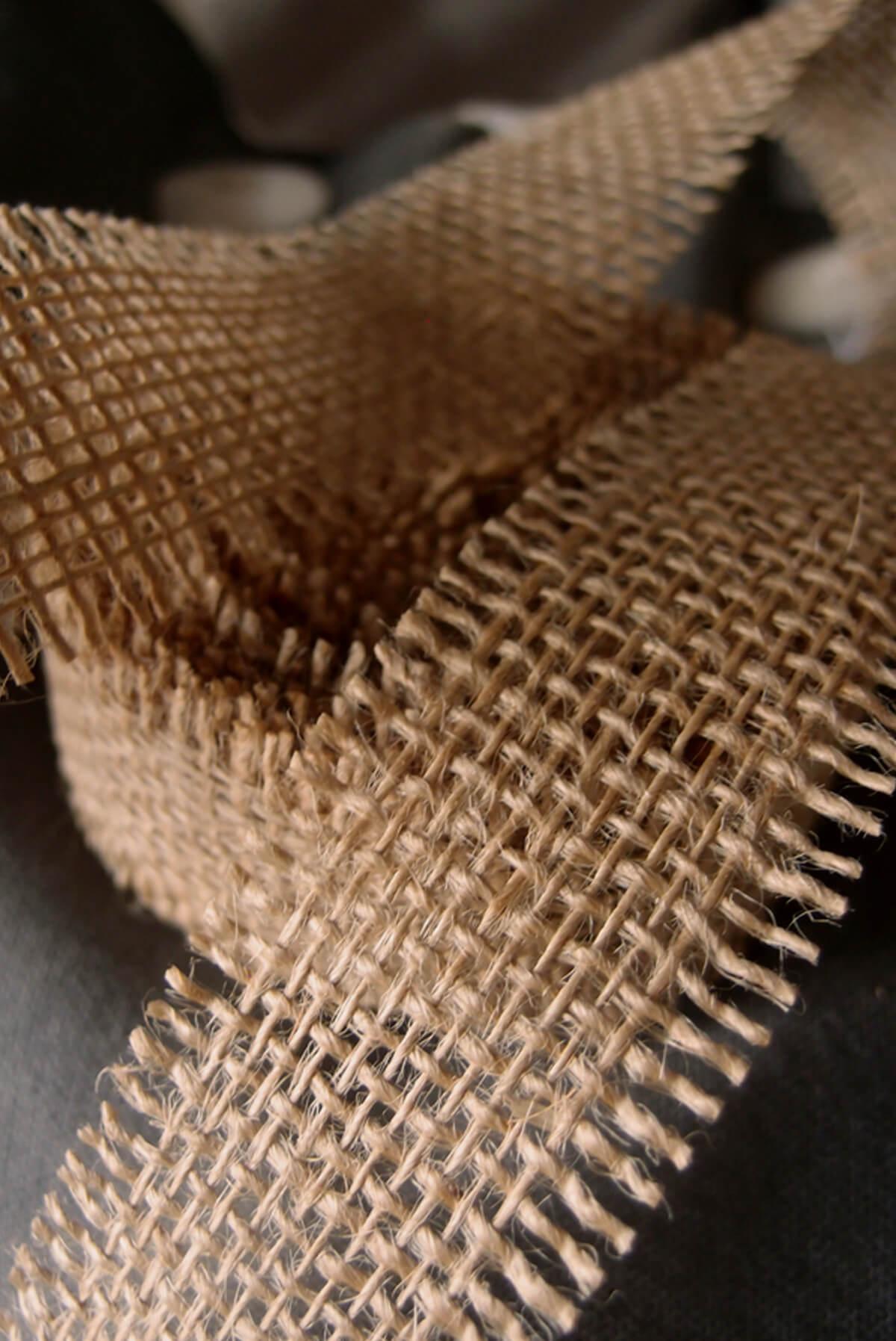 Natural Burlap Ribbon Open Weave 112 x 10 yards