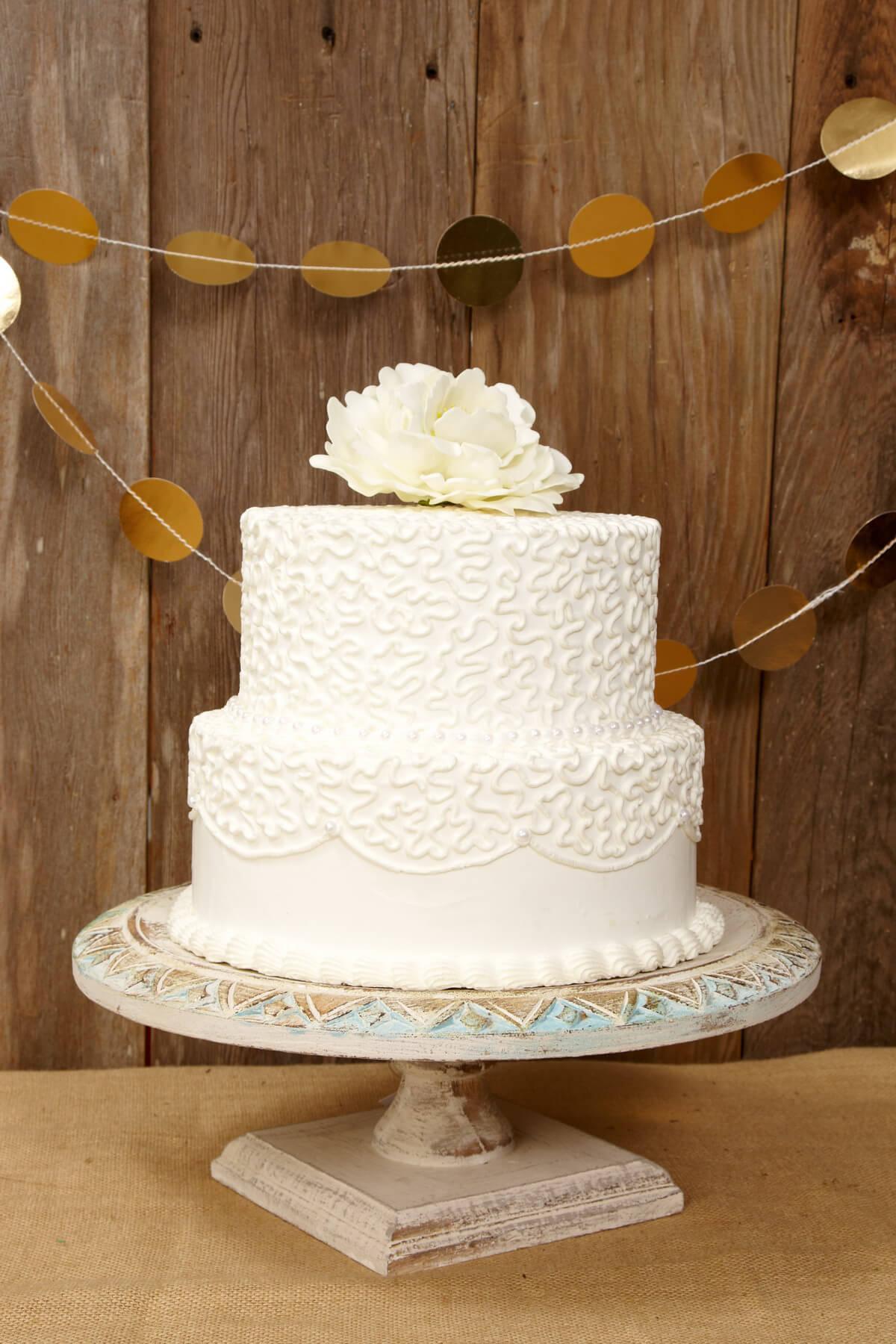 Wood Shabby Chic Cake Stand 15