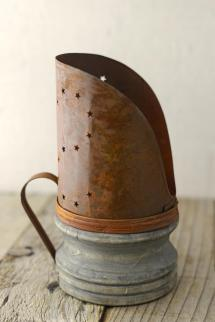 Rusty Candle Holder 7.75in