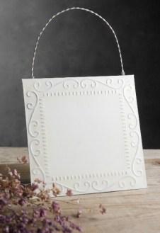 Ceiling Tile with Hanger White