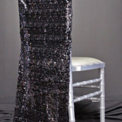 Black Glitter Chair Covers Folding Foam Bed Sashes, Banners, Signs