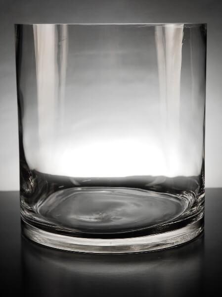Glass Cylinder Vase 9x10 Inch