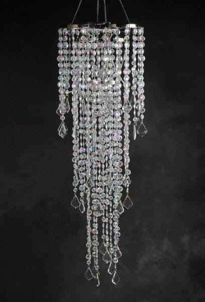 Crystal Chandelier 3Tier LED Battery Operated 42in