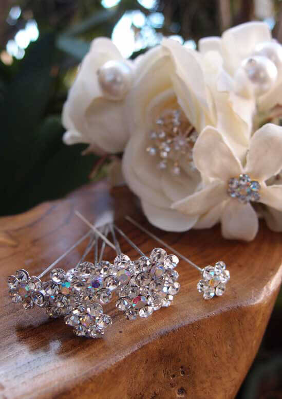 Rhinestone Bouquet Pins Pack of 10