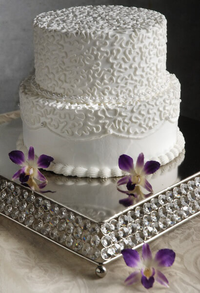 Square Crystal Amp Stainless Wedding Cake Stand 14 X 14