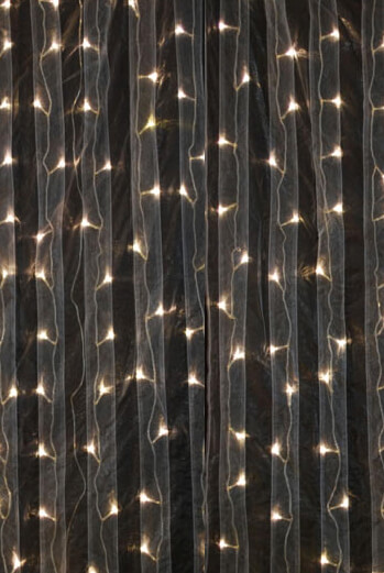 Curtain Organza LED 3x12ft Warm White