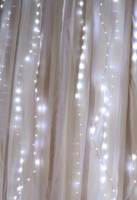 Fairy Light Curtain Lights 70 LED 80 Length Battery