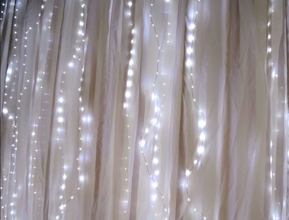 Fairy Light Curtain Lights 70 LED 80 Length Battery Operated