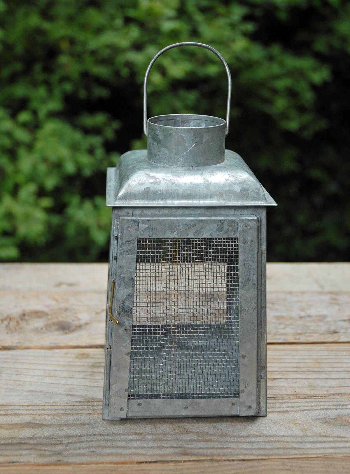 Chicken Wire Galvanized Metal Candle Lanterns
