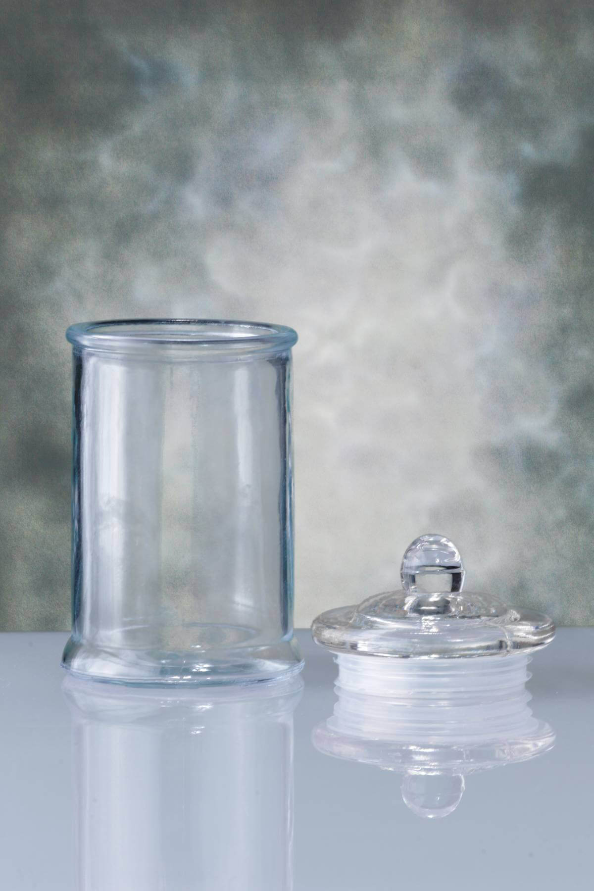 clear kitchen canisters curtain fabric glass canister 6in
