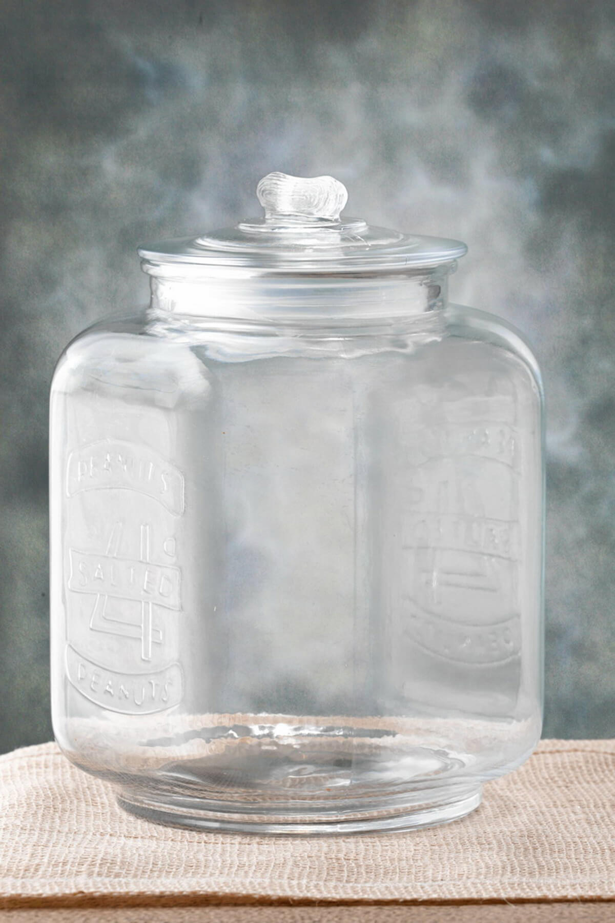 kitchen table lighting rolling island glass cookie jar 7 x 10in