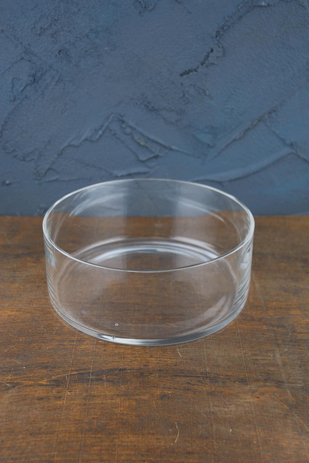 Clear Glass Round Terrarium Dish 8