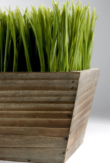 Wood Planter Box 24 Grass Centerpiece