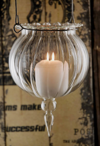 7 Inch Glass Hanging Candle Holders