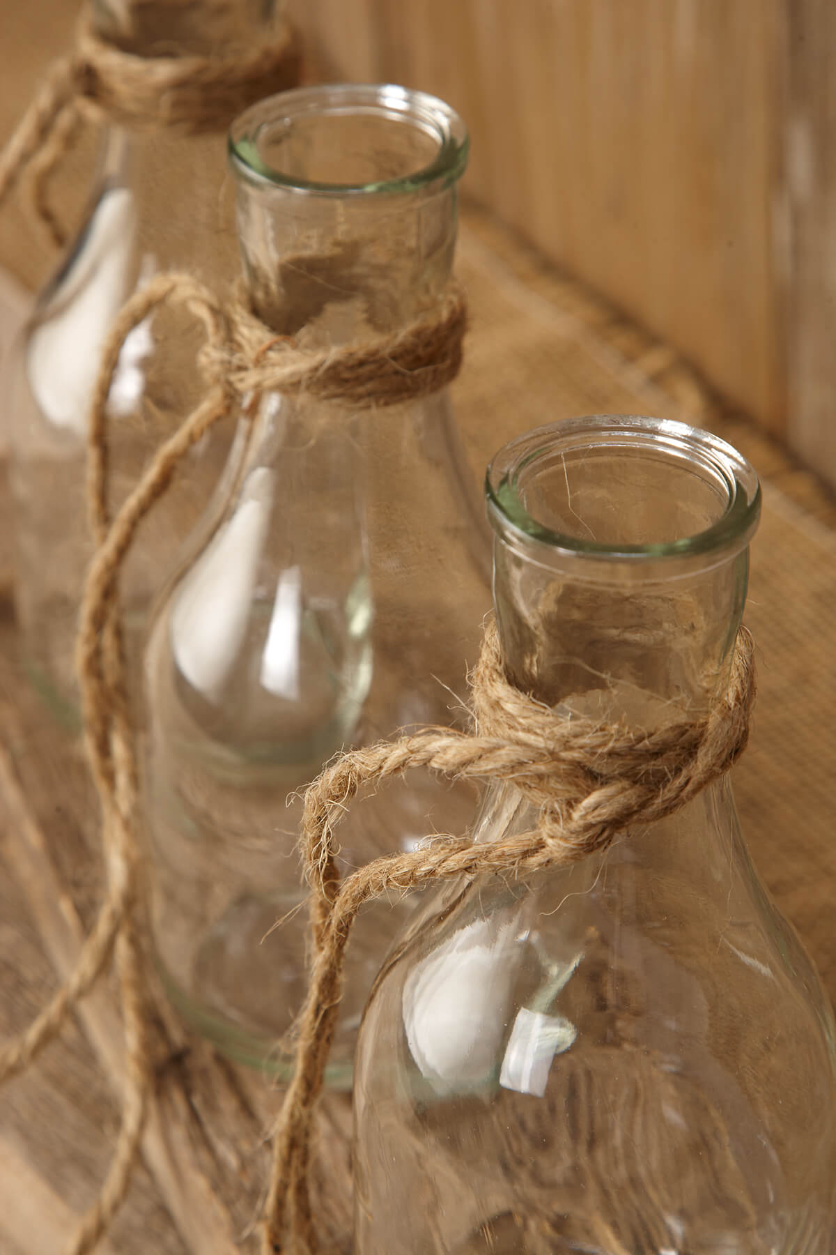 Hanging Glass Bottle Vase 675in