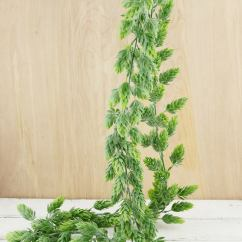 Hanging Chair Wood And Table Rental Hops Garland Frosted Green 6ft Artificial