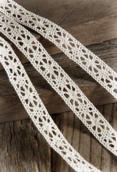 Ivory Cotton Lace Ribbon 12 Inch X 10 Yards