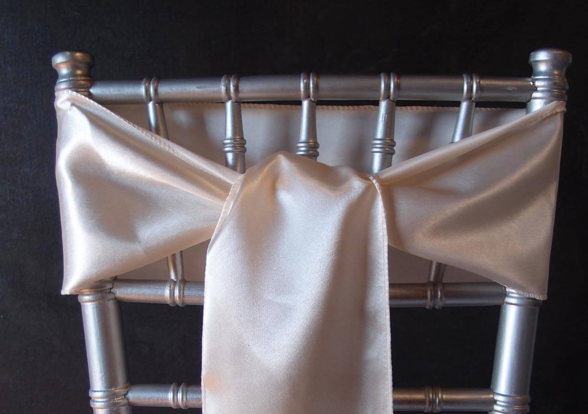 ivory satin chair covers outdoor string chairs 10 sashes 6x106