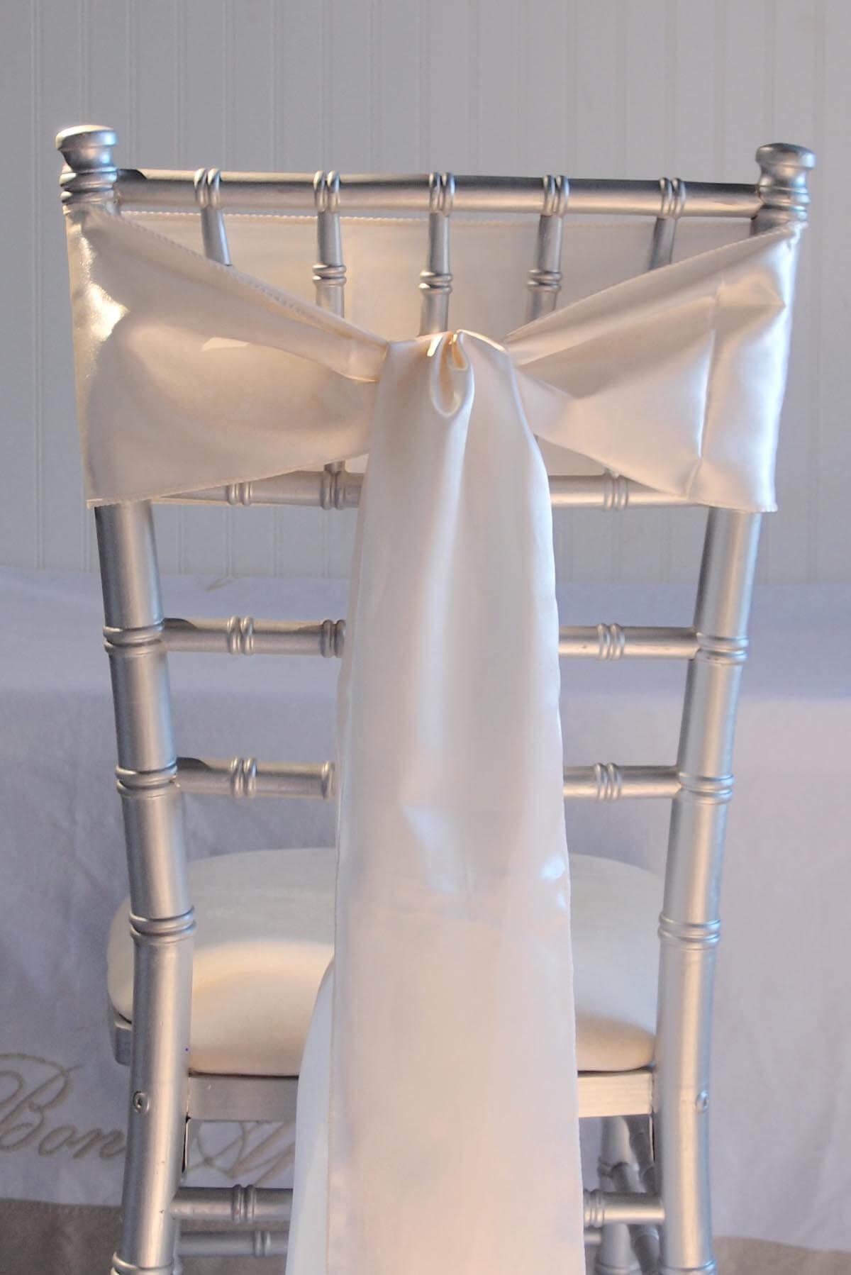 ivory satin chair covers grey adirondack chairs 10 sashes 6x106