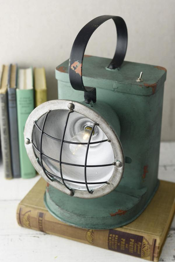 Battery Operated Led Railroad Spot Lantern Rustic Industrial