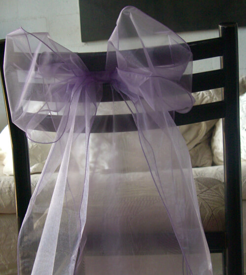 Organza Chair Sashes Lavender Pack of 10