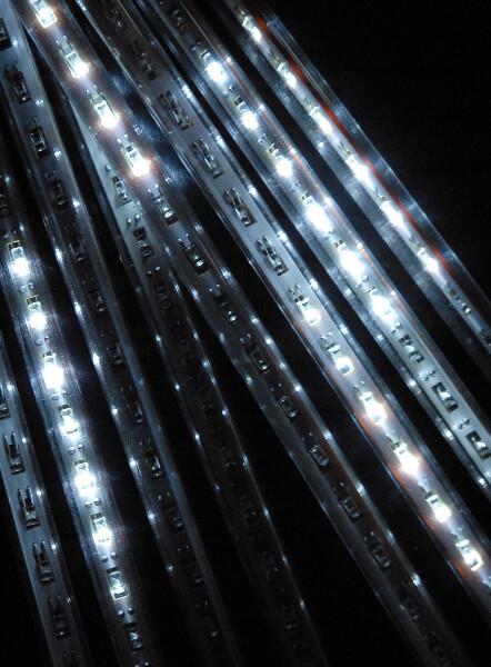 12 Inch Meteor Rain Lights White LED 8 Tubes String
