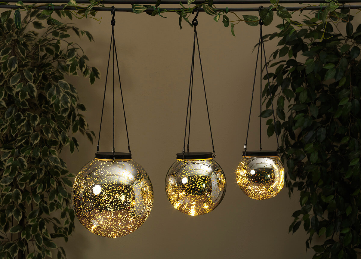 LED Orb Light Mercury Glass Silver 475in